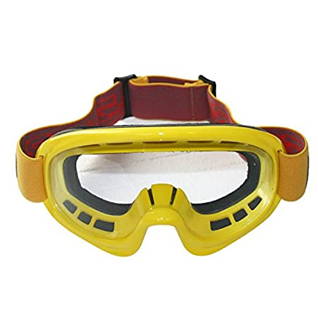 Leopard Adult Motorbike Motorcycle Motocross MX Goggles Off Road Adjustable Non Red Slip Strap