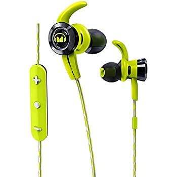 8f2a00e0c44 Monster Cable iSport Victory In-Ear Wireless Headphones with Built-In Mic,  Green, Sports Headphones, Running, Noise Isolation