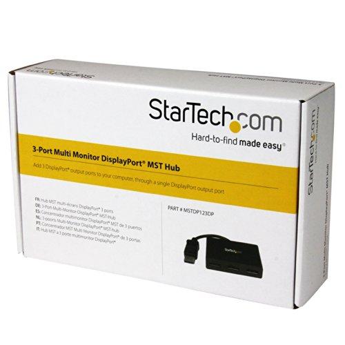 StarTech.com DisplayPort to DisplayPort Multi Monitor Splitter - 3-Port MST Hub - DP 1.2 to 3x DP MST Hub by StarTech (Image #7)