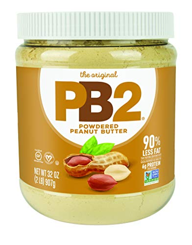 PB2 Original Powdered Peanut Butter - [2 Lb/32oz Jar] 6g of Protein, 90% Less Fat, Certified Gluten Free, Only 60 Calories per Serving, Perfect for Protein Shakes, Smoothies, and Low-Carb, Keto Diets