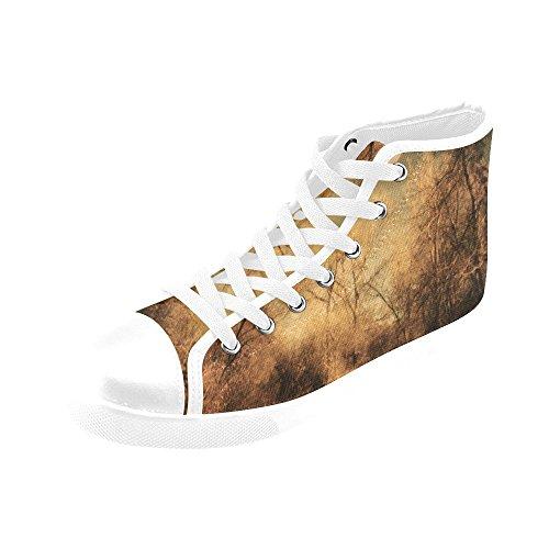 Artsadd Silhouette Blues High Top Canvas Shoes For Women(Model002) B4 oBuJ7
