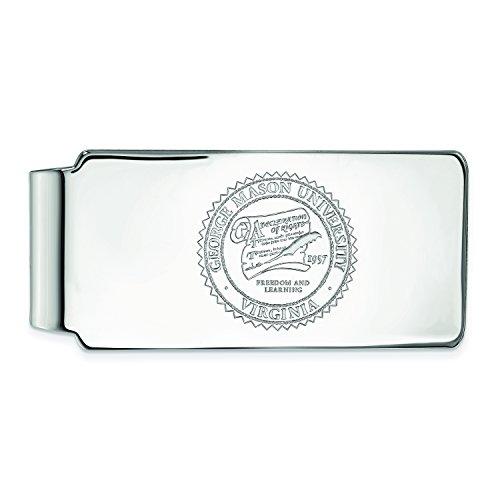 University Money Crest SS017GMU George Silver LogoArt Sterling Clip Mason wXqIAP1