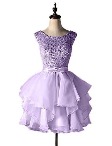 Promkleider Festlichkleider Hundkragen Abendkleider Damen Partykleider Cocktailkleider Lilac Ballkleider Spitze Charmant xYwH0A6q