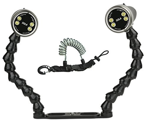 Light & Motion Sola Video 2000 Double Action Kit w/ Coil Lanyard by Light and Motion