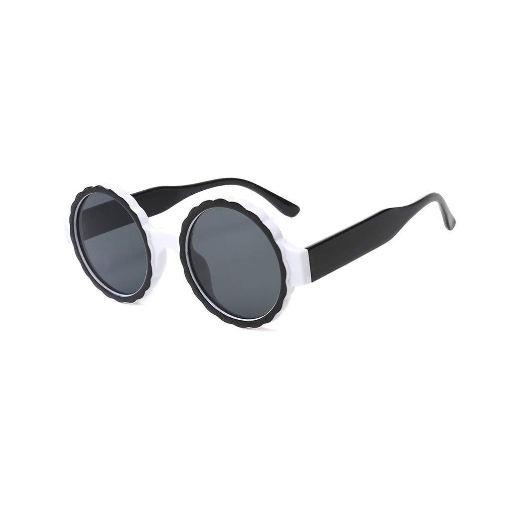 ASTV Womens Fashion Round Frame Mask Sunglasses Integrated Gas Glasses