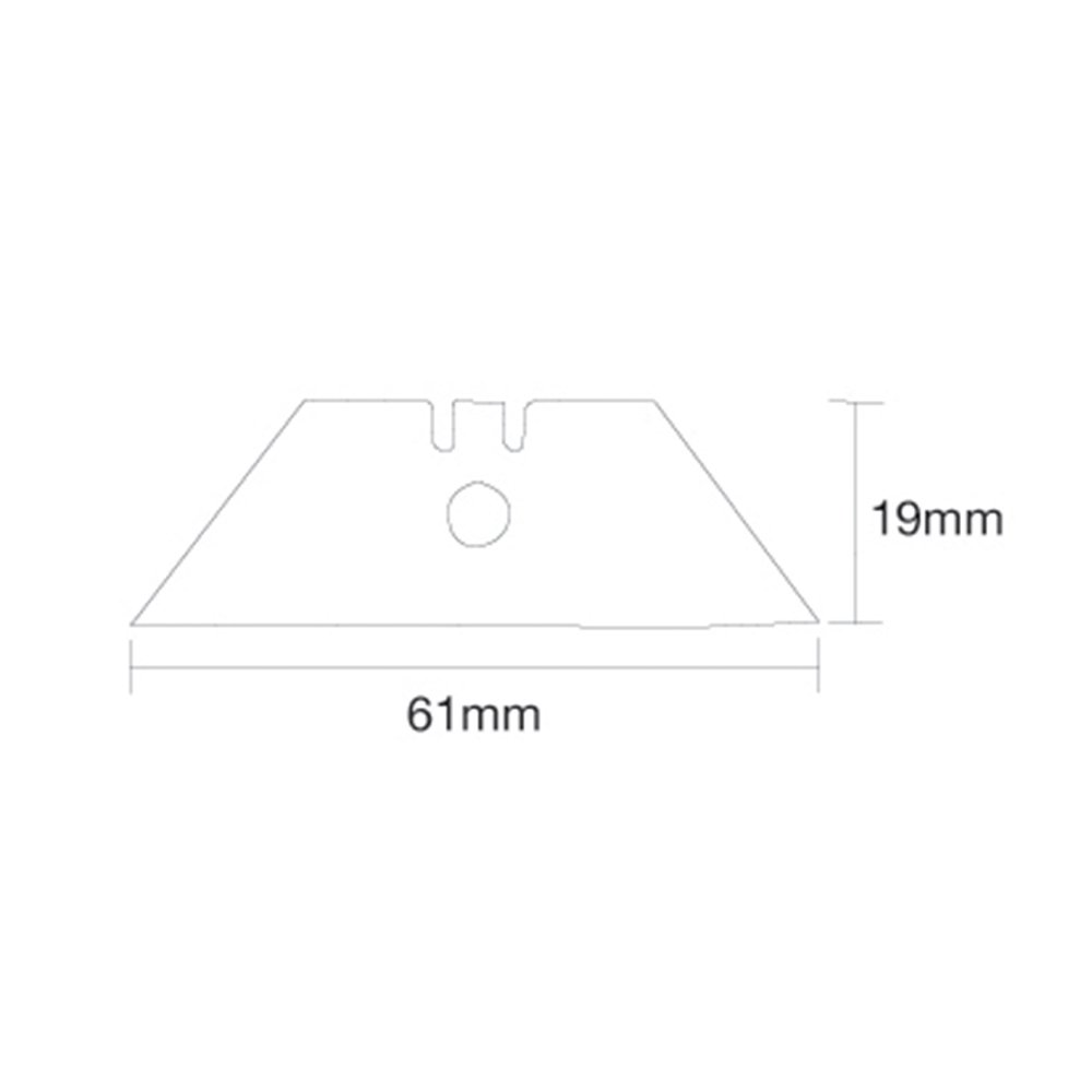 Silverline 196587 0.5mm Centre Hole Utility Blades Pack of 10