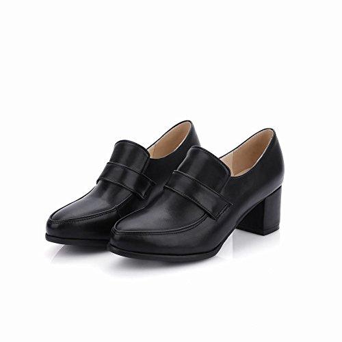 Charm Foot Ladies Moderno Ed Elegante Mocassino Con Tacco Basso Nero