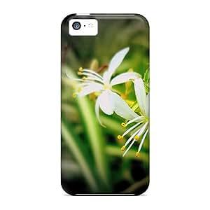EmzaT17839jJSXG Anti-scratch Case Cover WalkingStreet Protective Grass Flower Case For Iphone 5c