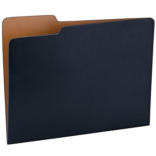 The CARLO File Folder NAVY/Tan Eco-Leather by Graphic Image - 8.5x11