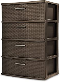 product image for STERILITE 4 Drawer Wide Weave Tower, Espresso - 1 Pack