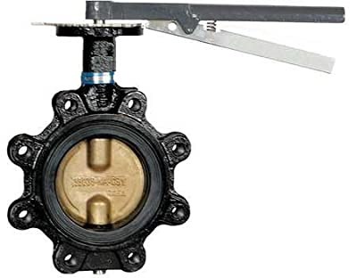 Butterfly Valve, Lug Style, Pipe Size 5 In by Milwaukee Valve