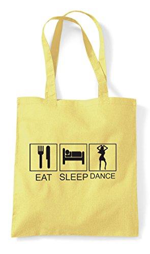 Tote Dance Bag Tiles Lemon Activity Eat Hobby Sleep Shopper Funny YU0pq56