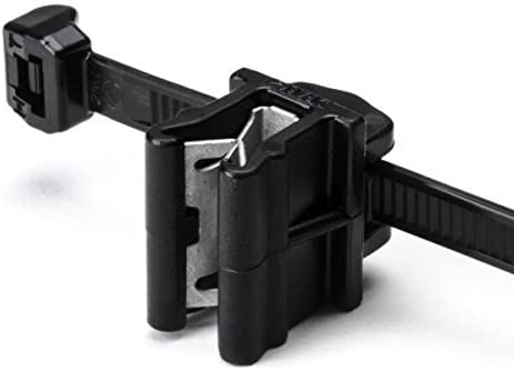 Hellermann Tyton 156-00871 Cable Tie and Edge Clip, 50 lbs, 8.0 Long, EC10, Panel Thickness .04-.12, PA66HS, Black (Pack of 500) by Hellermann Tyton: Amazon.es: Bricolaje y herramientas