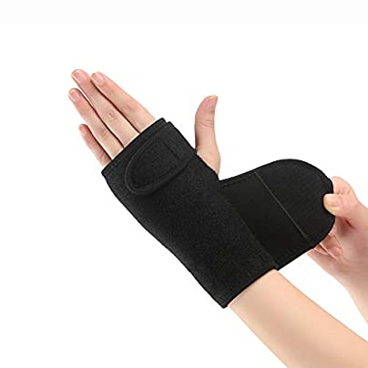 FINGER SPLINT Extension Elastic wristband bandage metal splint carpal tunnel syndrome and tendonitis relieve pain hands wearable ladies and men black left Estimated Price £23.99 -