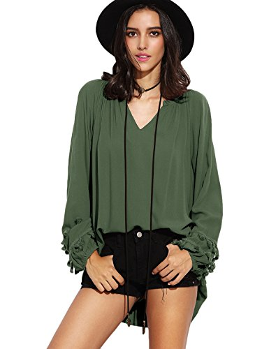 Floerns Womens Sleeve Casual Blouse