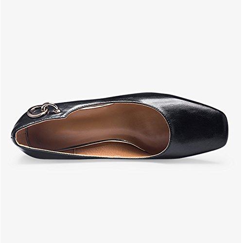 Bajos Vintage Tama Y Zapatos Jianxin Verano Primavera Mujer De O Negro 34 color Cmodos Mujer Trabajo q5Ftnf