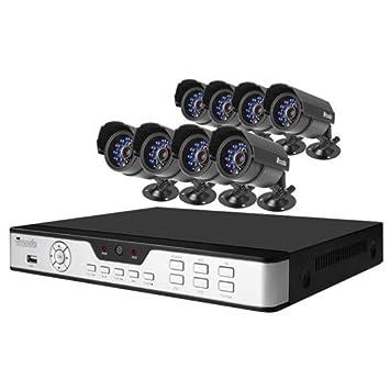Zmodo Sistema de vigilancia con 8 Cámaras resistente al agua IR pkd-dk0865- (