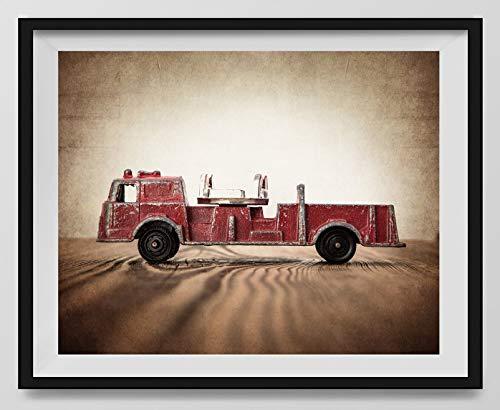 Vintage Fire Truck Photo Print