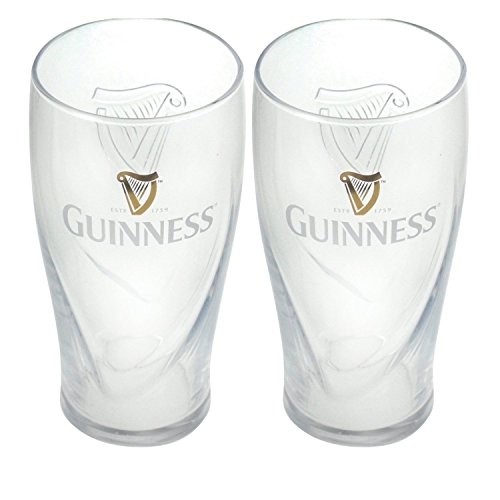 Guinness Gravity Pint Glass (2 Pack) (Pint Guinness)
