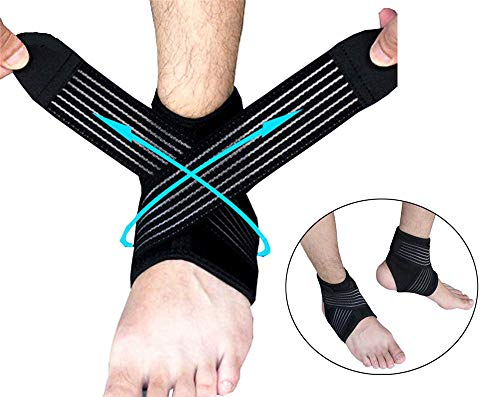 LeeHome Ankle Support -Adjustable Ankle Brace Breathable and Comfortable,Perfect for Running/Basketball/Volleyball and Protects Against Chronic Ankle Strain,Sprains Fatigue Men&Women (Left)