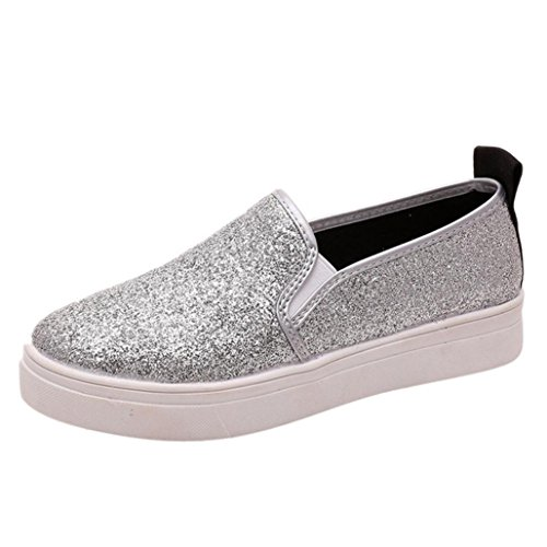 Clearance Women Shoes COPPEN Women's Spring Casual Flat Shoes Slip-On Sequins Loafer Shoes