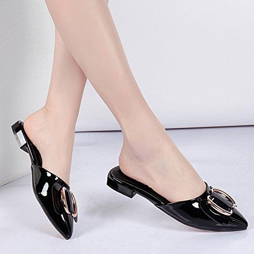 Mules Noir Mules Femme JYshoes JYshoes Noir Femme 6xIfv