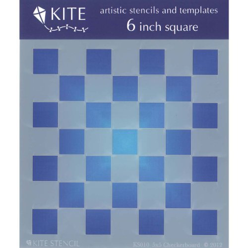 Checkers Board Squares (Judikins 6-Inch Square Kite Stencil, 5 x 5-Inch, Checkerboard)