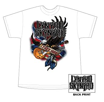300b2eca Lynyrd Skynyrd - Illustrated Eagle Adult T-shirt in White, Size: XX-Large:  Amazon.co.uk: Clothing