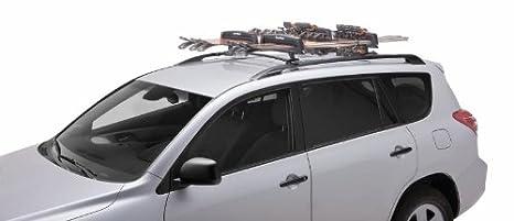 SportRack SR6453 Locking Roof Ski and Snowboard Carrier Black