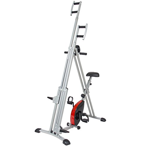 Best Choice Products Total Body 2-IN-1 Vertical Climber Magnetic Exercise Bike Fitness Machine