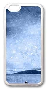 Beach Silhouette Custom iphone 6 plus Case Cover TPU Transparent