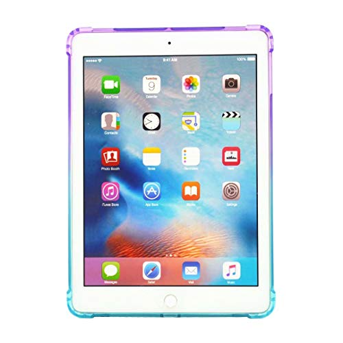 iPad 6 Case, Anya Popular Fashion Gradient Drop-Proof Soft TPU [Corner Protection] Ultra Slim Lightweight Shell Cover for Apple iPad 6 - Purple/Blue by ANYA (Image #3)