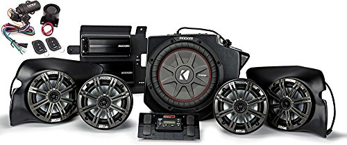 KICKER Bundle of 2 Items 44PRZ35 5-Speaker Polaris RZR System w/Viper 3121V Powersports Security System