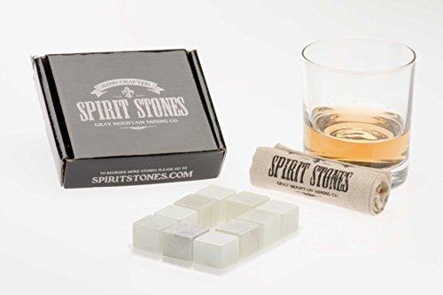 Spirit Stones Pure Soapstone Whiskey Ice Rock Stone, Set of 10