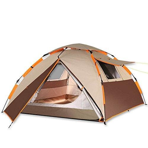 通りだらしない列車アウトドア テント,キャンプテント 自動テント 防水 蚊対策 二重層 通風孔の大きな キャリー バッグ ビーチ 野生 旅行 家族のテント