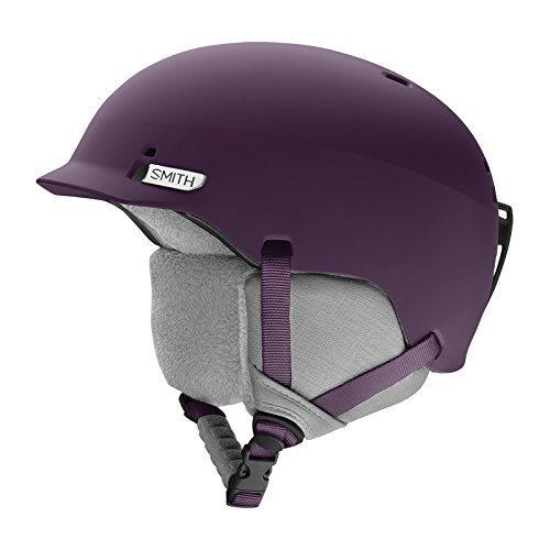 Smith Optics Gage Adult Ski Snowmobile Helmet - Matte Black Cherry / - Black Beanie Cherry