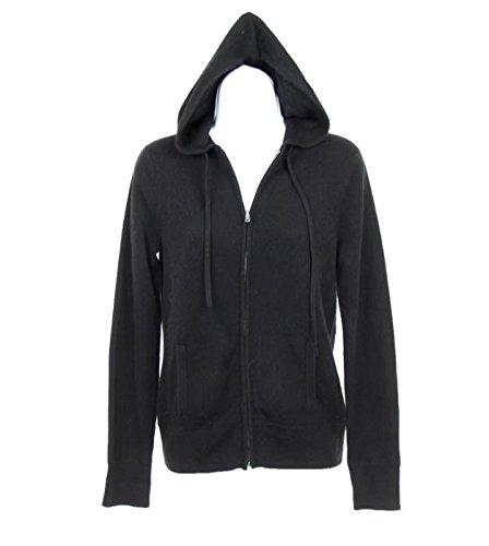 New J Crew Italian Cashmere Zip-Front Hoodie Sweater Black S F5913 (Italian Zip Hoodie)