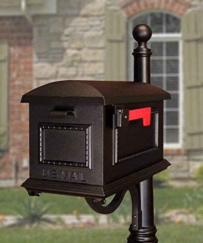 - Special Lite Products SCT-1010-BLK Traditional Curbside Mailbox, Black