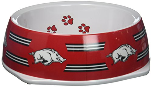 Sporty K9 Collegiate Arkansas Razorbacks Pet Bowl, Large