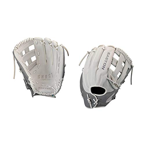 Easton Ghost Fastpitch Series Baseball Glove, Right Hand Throw, 12.75', Grey, H Web