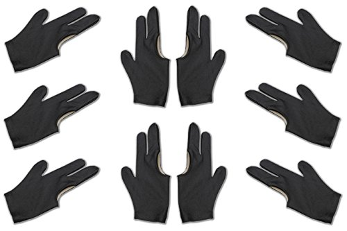 Billiard Depot 10pcs/set 3 Finger Billiard Gloves Pool Cue Gloves
