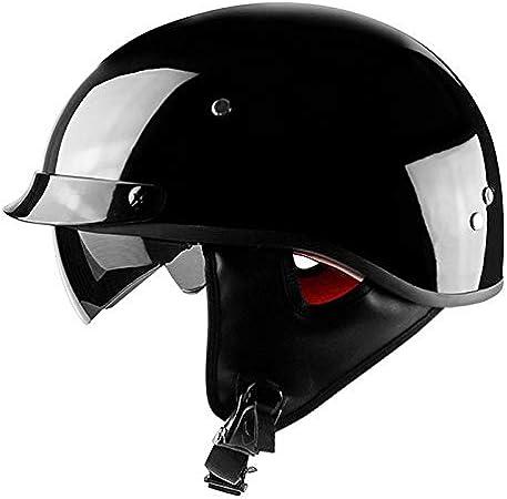 ABN Sicherheitszertifizierung 9 Farben erh/ältlich CNS C,M ECE Mode Harley Motorrad Helm DOT QYHT Sommer Motorrad Retro Helm