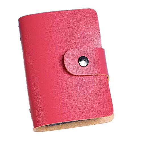 LiLiMeng Men Women Leather Credit Card Holder Case Card Holder Wallet Business Card WR
