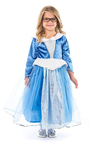 Little Adventures Deluxe Sleeping Beauty Blue Princess Dress Up Costume (Small Age 1-3)