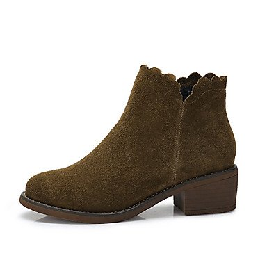 EU39 For Casual UK6 Boots Black CN39 Winter RTRY Fall Women'S Nubuck Boots Khaki US8 Leather Shoes Fashion WzvwgRc6qv