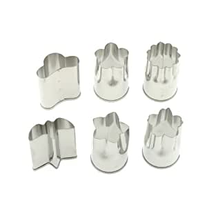 Kotobuki Set of 6 Small Stainless Vegetable Cutters, Garden, Lawn, Maintenance