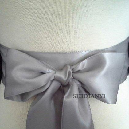 ShiDianYi Silver Satin Ribbon Sash,Ribbon Wedding Sash,Bridal Sash,Bridesmaid Sash,Ribbon Sash Belt-3 Yards, Choose Yours Colors ()