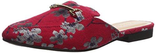 Qupid Women's Regent-02 Loafer Flat, Red/Multi, 9 M US
