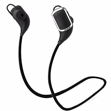 Auriculares inalámbricos,DETOME Auriculares Bluetooth estéreo auriculares deportivos con mic para trabajar en el gimnasio