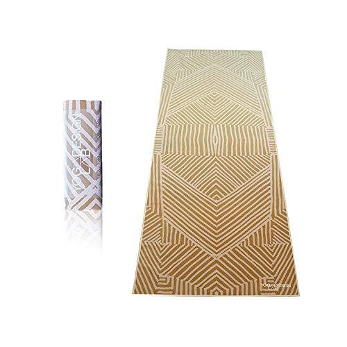 YOGA DESIGN LAB | The HOT Yoga Towel | Premium Non Slip Colorful Towel | Designed in Bali | Eco Printed + Quick Dry + Mat Sized | Ideal for Hot Yoga, Bikram, Ashtanga, Sport, Travel! (Optical Gold)